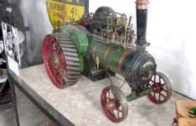 This free-lance model agricultural engine is one of a pair of engines built by local master model maker the late Alf Baker. This model (and others at the museum) was turned on his lathe using scrap metal. It's powerful enough to pull 7 people in a cart! The engine is in full working order, but currently lacks a boiler certificate.