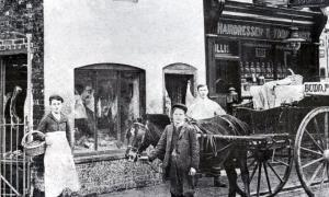 Budd's Butcher and Willis Hairdresser, River Street